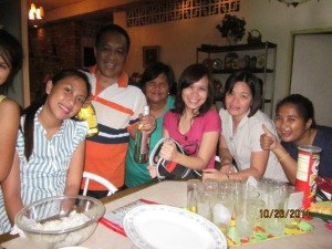 Family sushi making night in Mansilingan, Bacolod City, Phil.